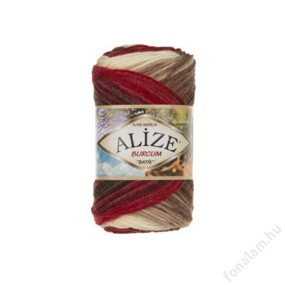 Alize Burcum Batik fonal 4574 Piros mogyorós