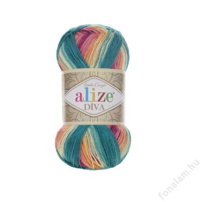 Alize Diva Batik fonal 4572 Virágcsokor