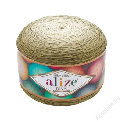 Alize Diva Ombre Batik fonal 7374 Oliva