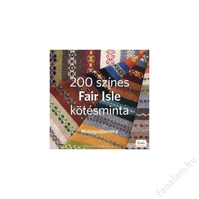 200 színes Fair Isle kötésminta könyv