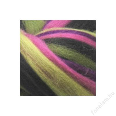 Multicolor ausztrál  merinó  szalaggyapjú 1148 Virágszál