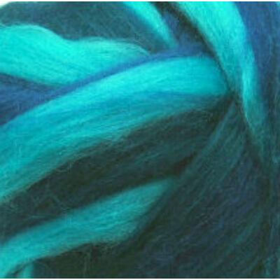Multicolor ausztrál  merinó  szalaggyapjú 1559 Kékkavalkád