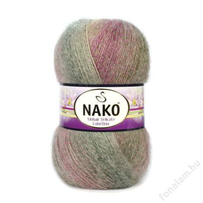 Nako Mohair Delicate Colorflow fonal 28140 Hilda