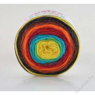 Papatya Cake Wool  fonal 252 Szivárvány