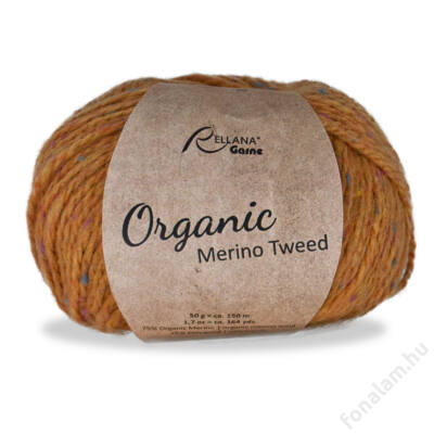 Rellana Organic Merino Tweed fonal 20 Mustár