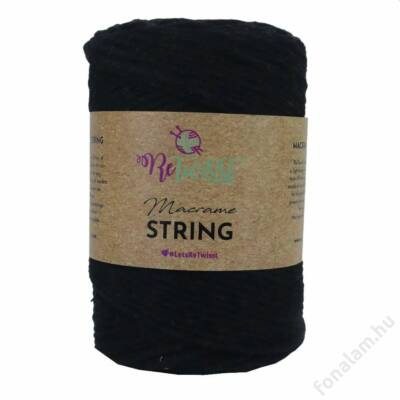 Retwisst Macrame String  zsinórfonal 3 mm 02 Holló