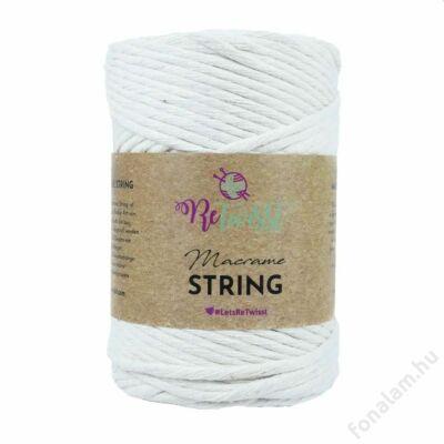 Retwisst Macrame String  zsinórfonal 3 mm 01 Hófehér