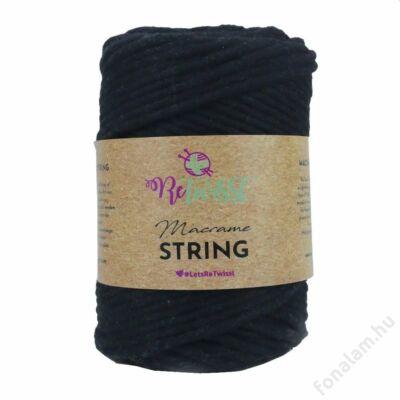 Retwisst Macrame String  zsinórfonal 5 mm 02 Szén
