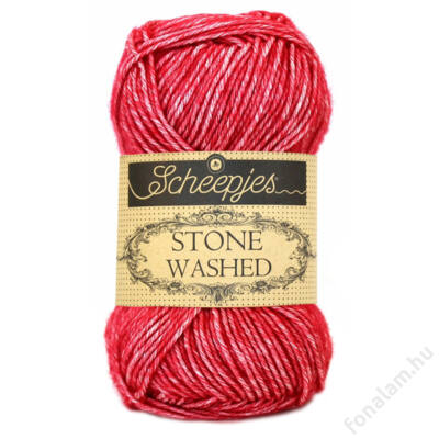 Stone Washed fonal 807 Red Jasper